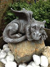 Für Garten Deko Drachen Figur Steinguss Fantasiefiguren Drachen Steinfiguren