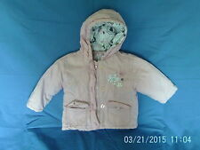 Baby Girls 12-18 Months - Pink Fleece Lined Hooded Coat - Dizzy Daisy
