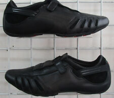 Men's Puma Vedano V Sneakers, New Black Leather Sport Life Walking Shoes Sz 8.5