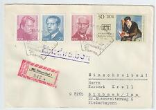 DDR  Brief  Einschreiben, Klingenthal 1 b KN 847 (8452) mit MiF + SSt.