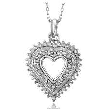 925er Silber 1/2ct Diamant Herz Halskette (IJ-I3)