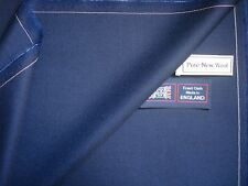 """100% PURE NEW WOOL WORSTED """"Royal Blue"""" SUITING FABRIC MADE IN ENGLAND – 3.4 m."""
