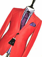 BNWT MENS PAUL SMITH LONDON BURNT ORANGE TONIC SKINHEAD TAILOR-MADE SUIT 40R W34