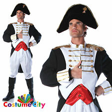 Adult Mens French Napoleon Admiral Uniform Halloween Fancy Dress Party Costume