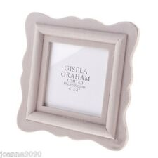 GISELA GRAHAM VINTAGE GREY WASH WOOD FLUTED SQUARE PHOTO PICTURE FRAME HOME GIFT