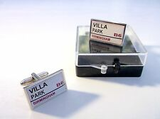 ASTON VILLA STADIUM BADGE STREET SIGN MENS CUFFLINKS GIFT