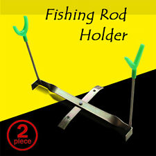 2x ***Pier Inland Ground Fishing Rod Pole Holder Support Stand Rests Rack Tackle