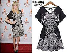 boho paisley tunic mini dress size 10 women new