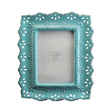 Gisela Graham Blue Glazed Ornate Resin Picture Frame