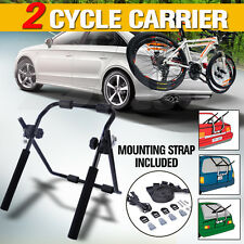 NEW Car Bike Rack Cycle Carrier 2 Rear Mount Bicycle Steel Foldable Strap-on