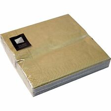 200 x Gold 3 Ply Paper Napkins 33cm Square Party Serviettes Tableware Catering