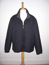MENS NEW MARKS AND SPENCER BLACK QUILTED BOMBER JACKET SIZE XXL