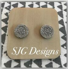 Earrings Round SILVER Plated Michael Kors Inspired