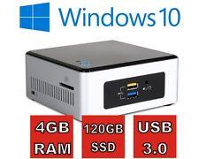 Intel® NUC PC mit 4GB RAM, 120GB SSD, USB 3.0 und Windows 10 Pro ( Win 10 )