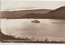 Duchess of Hamilton passing The Maids of Bute, Spencer RP Postcard, B551