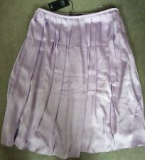 M&S SATIN PLEATED LAVENDER SKIRT FULLY LINED - SIZE 14 BNWT
