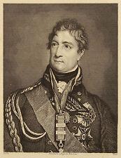 General-Lieutenant Sir Thomas Picton. Halbportrait, gest. von Auguste Hüssener