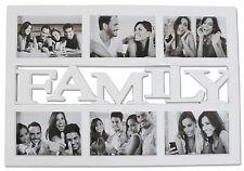 Bilderrahmen FAMILY weiß - Multirahmen 6 Bilder 10x15 cm - Foto Rahmen Familie