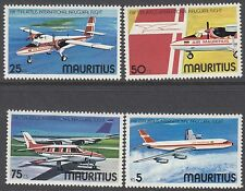 MAURITIUS:1977 Air Mauritius set + M/S SG524-7 +MS 528 never-hinged mint