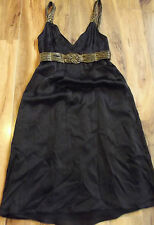 SEDUCE - Black & Gold Cocktail Dress - Ladies Size - 10 - AS NEW - Buy 5 FP !