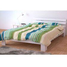 Doppelbett Holz Kiefer Massivholz Bett Bettgestellt ink Lattenrost 160x200 weiß