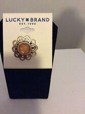 $35 Lucky Brand Gold Tone Citrine Sunburst Ring Lb1 317