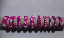 10 disney Inspired friendship loom band bracelets~child size~party bag favours