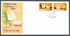 1980 Gibraltar FDC Christmas Issue