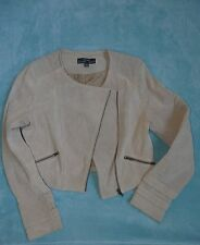 Genuine Suede Leather, quality jacket or top. Just Jeans, As New. Size 12 Medium