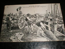 Old postcard loading onions for England at Roscoff France used 1922