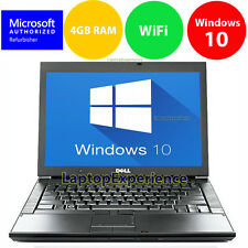 DELL LAPTOP LATiTUDE WINDOWS 10 CORE 2 DUO 4GB RAM WIN DVD WIFI PC HD COMPUTER