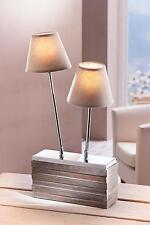 Tischlampe Duett Tischleuchte Wohnzimmer Beleuchtung 2-flammig E14