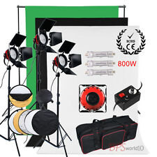 2400W Video Red Head Readhead Lighting Kit 3 Backdrop Background Stand Reflector
