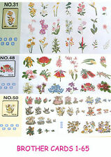 BROTHER CARDS 1- 66 PES EMBROIDERY DESIGNS  FOR BROTHER MACHINE ......CD