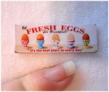 *Süßes Miniaturen Eier - Schild / Bild / Poster / Deko  1:12 * FRESH EGGS