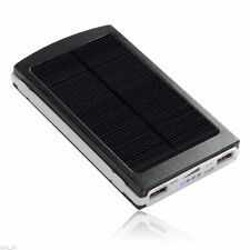 SOLAR PANEL POWER BANK 10'000mah BATTERY CHARGER MOBILE PHONE IPHONE IPAD TABLET