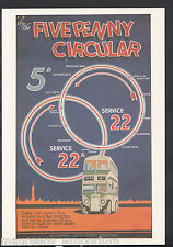 Advertising Postcard - Try The Five Penny Circular Bus Route  BH6213