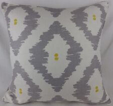 "Large 22""  Yellow grey Linen John Lewis Patagonia Pillow Cushion Cover Piped"
