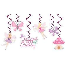 Pink Fairy Princess Birthday Party Hanging Decorations Decor
