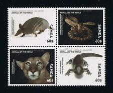2016 Samoa Animals of the World Postage Stamp Set
