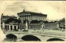 BERLIN ~1900 National-Galerie Friedrichsbrücke mit Reklame Fischer`s Essigessenz
