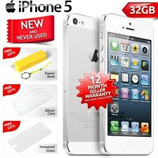 New in Sealed Box Factory Unlocked APPLE iPhone 5 White 32GB 4G Smartphone