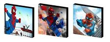 LEGO SPIDERMAN CANVAS  ART BLOCKS/ WALL ART PLAQUES/PICTURES