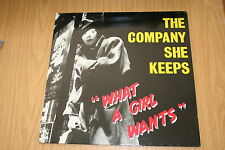 "The Company She Keeps -What A Girl Wants- 1987 Maxi-LP 12""  super rar"