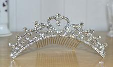 Diadem Tiara Hochzeitskrone Braut Prinzessin Krone Mädchen Kinder crown neu