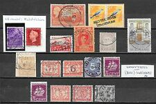 Surinam stamps INTERESTING Collection of 17 CANCELS  not common!