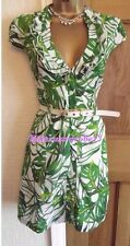 LOVELY ❤️  JANE NORMAN GREEN WHITE RUFFLE SHIRT SUMMER PARTY DRESS SIZE 10 12
