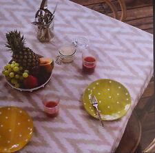 Aluna Chevron 100% Cotton Tablecloth - 150 x 230cm 6-8 seater