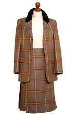 BURBERRY  WOOL JACKET SKIRT OUTFIT UK 10 12 US 8 10 EU 38 40 ITA 42 44 PRISTINE
