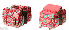 Basil Bloom Double Panniers Bag Scarlet Red 35L Bicycle Bike Carrier Luggage